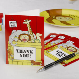 470 Personalised Zoo Zebra Birthday Thank You Stickers Party Sweet Cone Animal