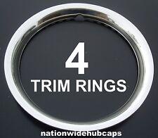 "SETOF4 GM 16"" STAINLESS STEEL WHEEL TRIM RINGS BEAUTY RIMS GLAMOUR RING RIM BAND"