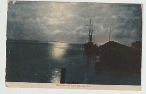 1907-Postmarked-Postcard-Moonlight-on-Lake-George-New-York-NY
