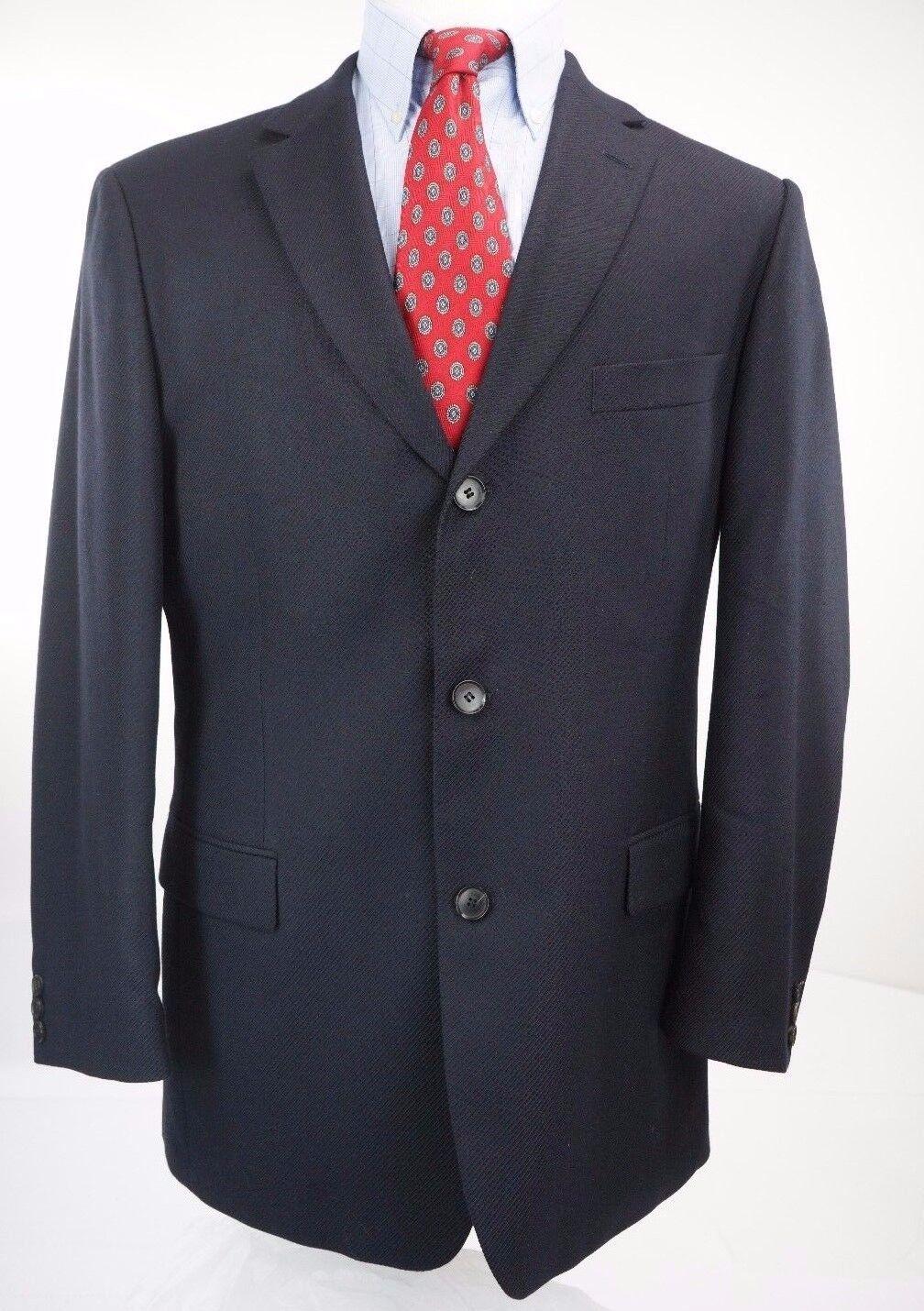 HUGO BOSS Scorsese Navy bluee 100% Wool Three Button Blazer Sport Coat 42 R