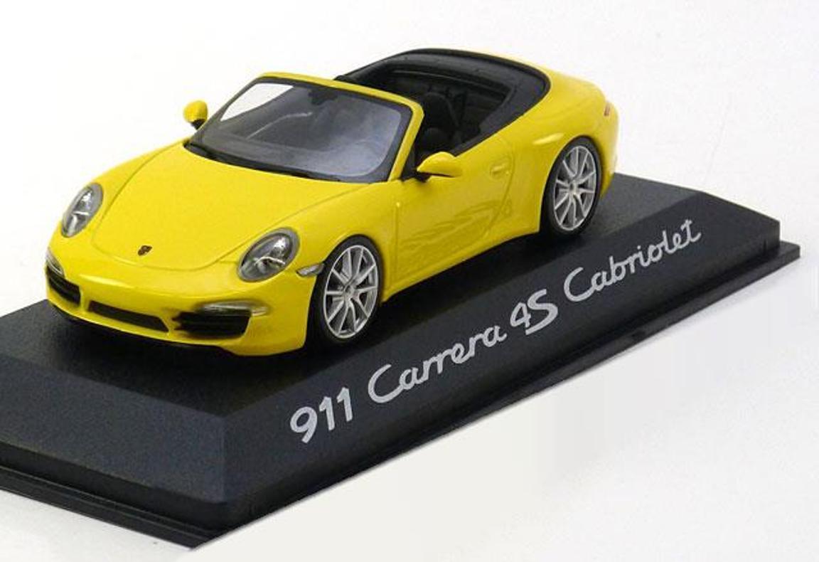 PORSCHE 911 991 voitureRERA 4S CABRIOLET 2012 jaune MINICHAMPS  WAP0201120C 1 43  sortie d'exportation