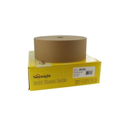 """Sunmight 06106 2.75/"""" x 45YD 80 Grit PSA Gold Sanding Sheet Roll"""