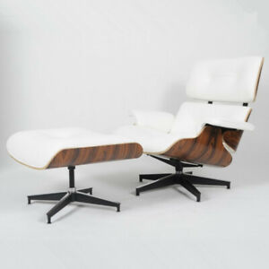 Remarkable Details About Herman Miller Eames Style White Leather Lounge Chair Ottoman Rosewood Pdpeps Interior Chair Design Pdpepsorg