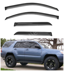 4pcs Outside Mount Smoke Sun//Rain Guard Window Visors Fit 03-09 Toyota 4Runner