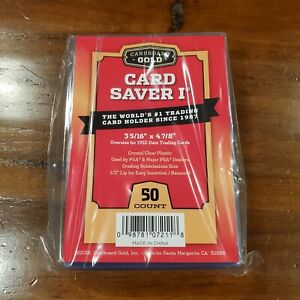 Cardboard Gold Cardsaver 1 For PSA BGS SGC Submission 50 Count Pack