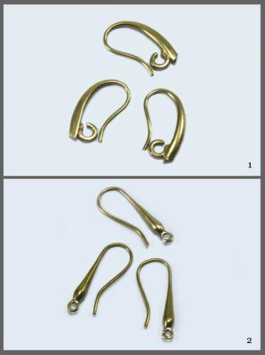Ohrhänger ohrhaken roh latón ohrfedern RAW Brass rohling pendiente m-101