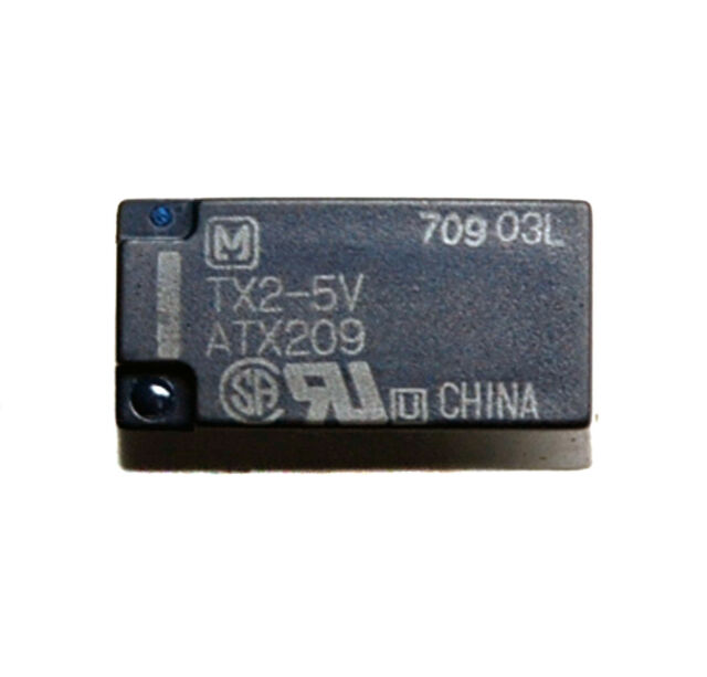 5pc Panasonic Relay TX2-5V DPDT 2C Coil= 5VDC Contact= 2A 30V 60Wmax ( NA5W-K )