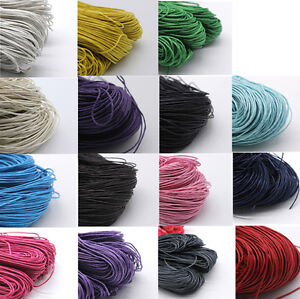 Waxed Cotton Cord Beading Rattail Braided Jewellery Making String Thread 1.5mm