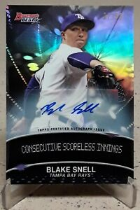2016 Bowman's Best Stat Lines BLAKE SNELL Auto Rookie Refractor /50