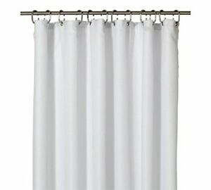 Waffle-Shower-Curtain-Fabric-With-Rings-Mould-Resistant-Anti-Bacteria-180-cm