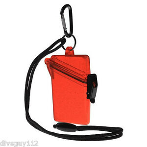 Witz Dry Box See it Safe for ID Cards, Licenses Scuba Diving Gear Glitter Red