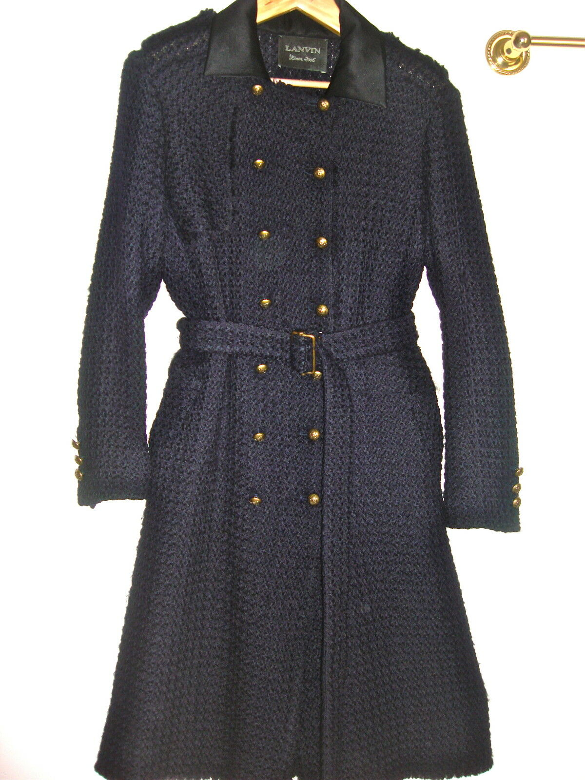 NEW RUNWAY LANVIN COAT US 8 MADE IN FRANCE