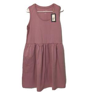 NWT Womens X Large XL Universal Thread Sleeveless Cotton Knit Midi Dress Pink