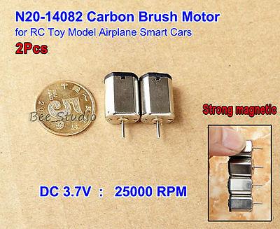 2PCS N20 DC 3.7V-7.4V 43000RPM High Speed Mini HM Motor+Blades RC Aircraft Model