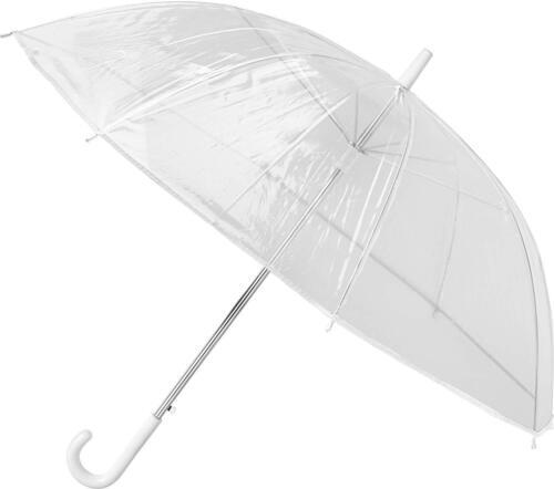2er SET Regenschirm Stockschirm transparent mit gebogenen Griff Hochzeitsschirm
