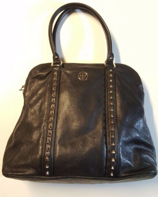 cebe82baa2b6 Tory Burch Pyramid Stud Womens Black Purse Leather Tote for sale ...