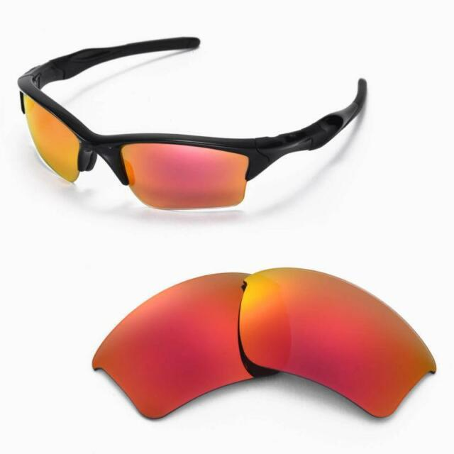 24fad28916d Walleva Polarized Fire Red Replacement Lenses for Oakley Half Jacket 2.0 XL