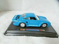 AUTOMAXX 1:24  PORSCHE 911 997 TURBO  DIECAST BLUE  850103