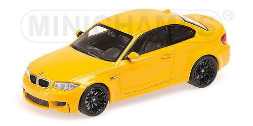 Bmw 1er coupé 2011 gelb minichamps 1   43 neue