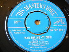 "MALCOLM VAUGHAN - WAIT FOR ME (TI DIRO)   7"" VINYL"