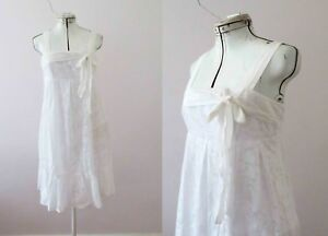 Review-White-Cotton-Sundress-Size-10-Free-Postage-for-3-items