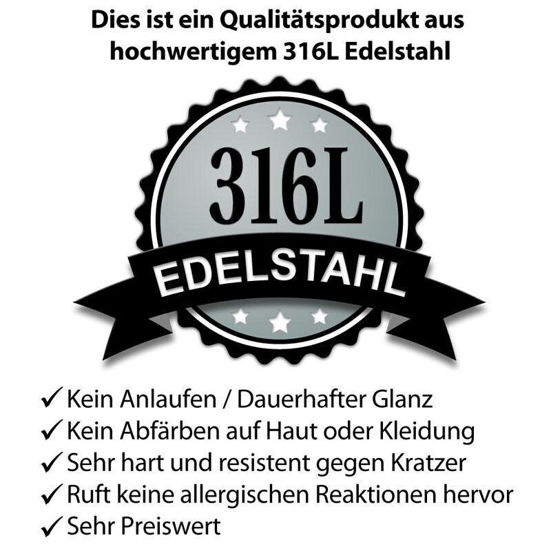 Lucky 7 Edelstahl Ring Glückszahl silber gold Glück Skulls Männer Bikerschmuck