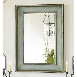 """Bathroom Mirrors Coastal ogden wall mirror blue green 37"""" wood bathroom vanity coastal"""