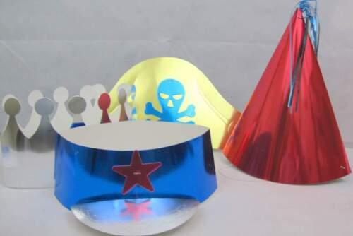 Feuille Fête Chapeaux-Birthday Celebration Accessoire-différentes formes-Pack de 4