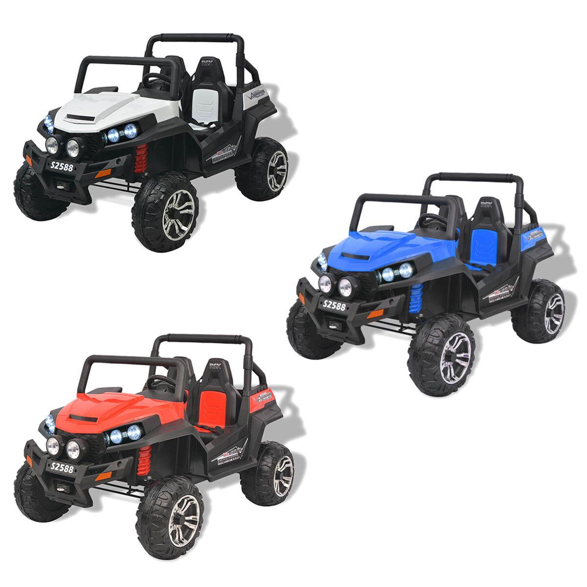 VidaXL Voiture Electrique pour Enfant 2 Places XXL Jeep Véhicule MultiCouleure