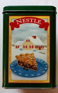 Vintage Tin Nestle Toll House Cookies Pie Party Mix Limited Edition Green 6x4""