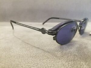 Jean Paul Gaultier JPG Vintage Sunglasses 58-0004 Red & Gunmetal \ Blue Lenses