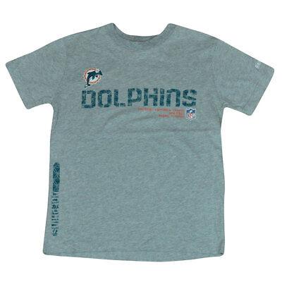 Baseball & Softball Liberal Nfl Reebok Miami Dolphins Tacon Seitenstreifen Jugendliche T-shirt Grau Dk3113 Moderater Preis