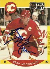 Brad McCrimmon Hand Signed 1990 Pro Set Card #39 Hockey Autograph NHL