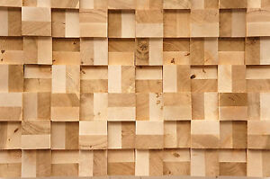 Wall-Cladding-Wood-Paneling-3D-Vintage-Solid-Oak-Birch-End-grain-Planed-Panel