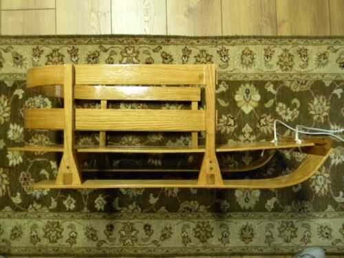 Details about  /29 inch Baby Kids Wooden Sled w// Solid Wood Seat Toddler Boggan made in USA