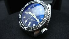 Vintage Seiko divers 7002 CLASSIC BLACK DIAL BB BLUE SAPPHIRE CRYSTAL K48