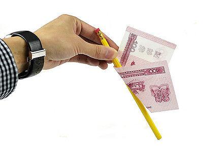 3pcs Misled Pencil Through Bill-Magic Tricks Close Up Magic Props Stage Illusion
