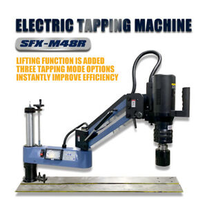 SFX M12-M48 Universal Electric Tapping Machine Lifting Function Touch Screen
