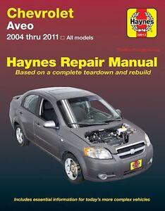 chevrolet aveo repair manual 2004 2011 ebay. Black Bedroom Furniture Sets. Home Design Ideas