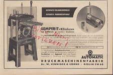WIEN, Werbung 1941, Semperit Gummi-Werke AG Klischee Druck-Maschinen-Fabrik