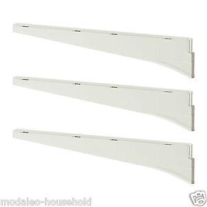 3 X Ikea Algot Bracket White Steel Shelf Brackets 18 Or 38cm Pup10