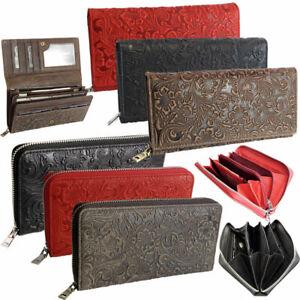 Exclusive-Designer-Damen-Leder-Geldboerse-Portemonnaie-RFID-Brieftasche-Portmonee