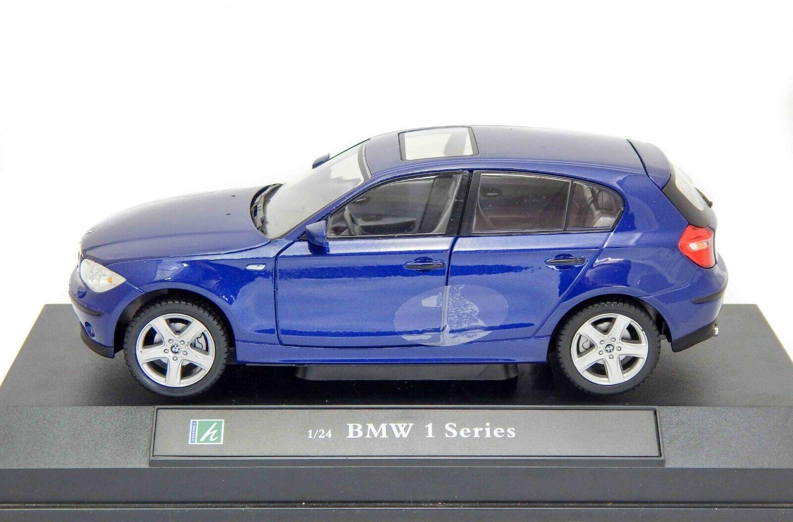 BMW Series 1 116i 118i 120i 120d 123d E87, bluee, Cararama 1 24 Model Car