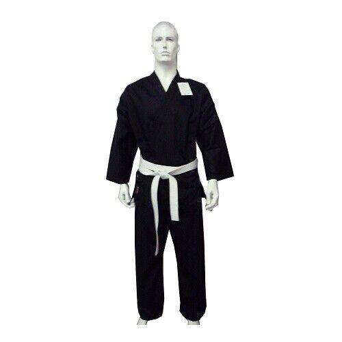 with White Belt MORGAN YAMASAKI PRO BLACK KARATE UNIFORM GI 10oz