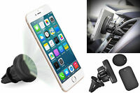 Universal Car Ac Vent Magnetic Holder For Cell Phone (2 Magnet Adapters) on sale