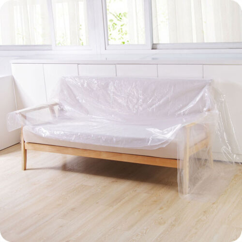 Furniture Protection Cover Plastic Storage Bag Desk Couch Sofa Bed Protector New