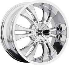 4-NEW New 17 (17x7.5) MKW M114 5x112/5x114.3 +40mm Chrome Wheels Rims