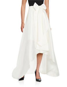Adrianna Papell Ivory Hi-lo Ballroom Formal Skirt high-low - NWT All Sizes $127