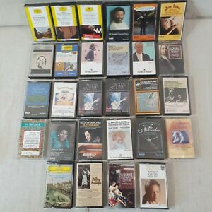 Lot-Of-28-Cassette-Tapes-Variety-of-Classical-Music-by-Many-Composers-Artists