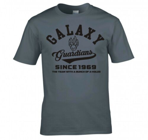 """GUARDIANS OF THE GALAXY /""""COLLEGE LOGO/"""" T SHIRT NEW"""